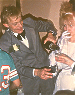 Jimmy Edwards and Honey Bane at their wedding reception mid-1980s