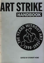Art Strike Handbook edited by Stewart Home cover