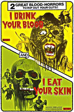 I Drink Your Blood and I Eat Your Flesh movie double bill poster