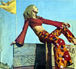 Julia - psychedelic hippy chick in Bombay 1968