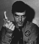 Boyd Rice in the uniform of US neo-Nazi group American Front