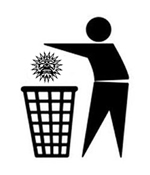 Sol Invitus logo being thrown in a bin